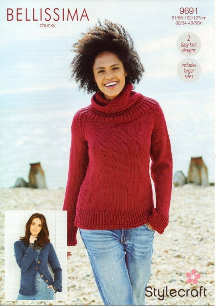 SCP Bellissima Chunky Pattern 9691 Sweater and Cardigan
